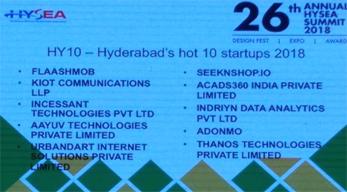 HYSEA 2018 Top 10 Startups list