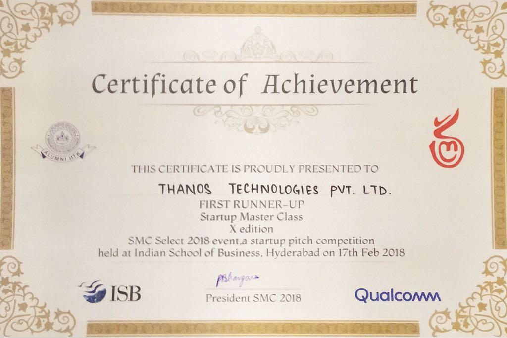 SMC Select Certificate