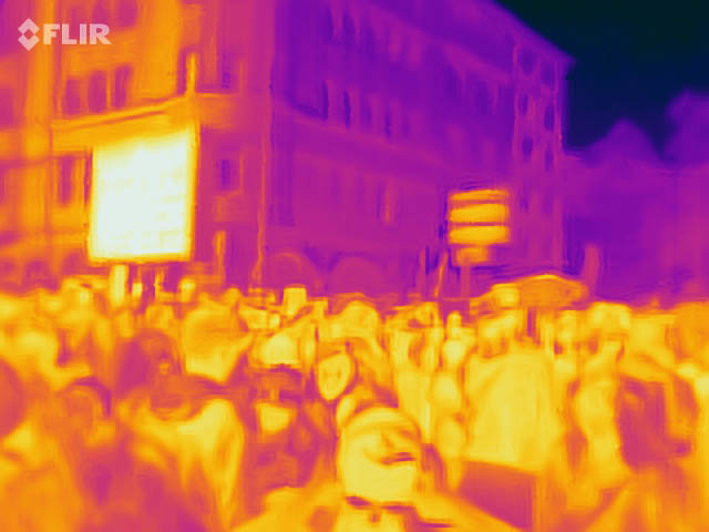 Thermal Image of a large gathering